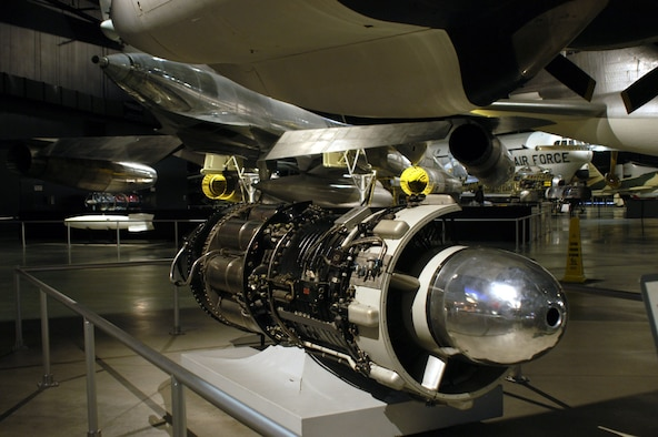 DAYTON, Ohio -- General Electric J47 on display in the Cold War Gallery at the National Museum of the United States Air Force. (U.S. Air Force photo)