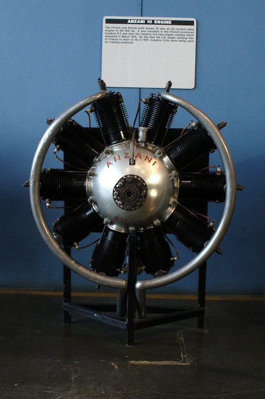 DAYTON, Ohio -- Anzani 10 on display in the Research & Development Gallery at the National Museum of the United States Air Force. (U.S. Air Force photo)