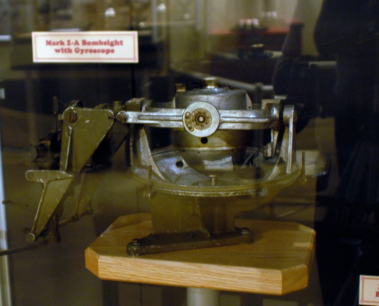 DAYTON, Ohio - Mark 1-A Bombsight with Gyroscope located in the Interwar Bombsight exhibit in the Early Years Gallery at the National Museum of the U.S. Air Force. (U.S. Air Force photo)