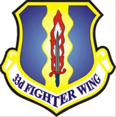Official 33rd Fighter Wing shield.