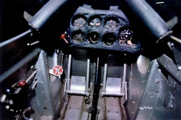 DAYTON, Ohio -- Curtiss P-6E cockpit at the National Museum of the United States Air Force. (U.S. Air Force photo)