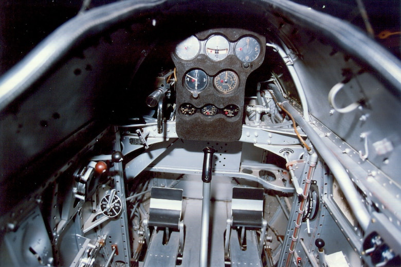 DAYTON, Ohio -- Boeing P-12E cockpit at the National Museum of the United States Air Force. (U.S. Air Force photo)