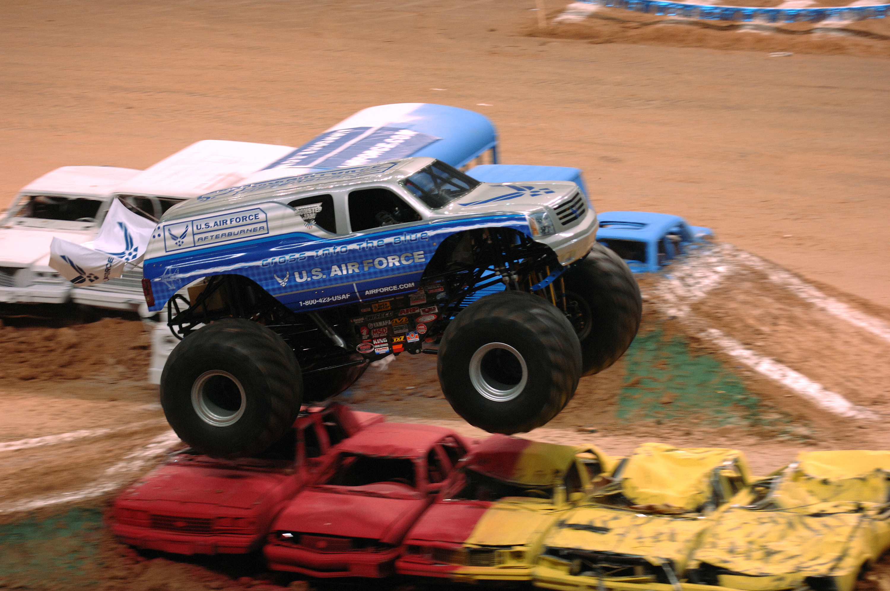 Air Force Afterburner Thrills Monster Truck Fans At Alamodome