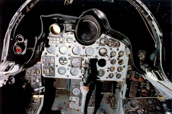 DAYTON, Ohio -- McDonnell RF-101C cockpit at the National Museum of the United States Air Force. (U.S. Air Force photo)