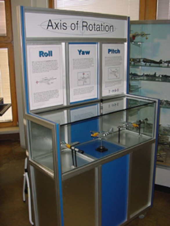 The first of several interactive and participatory exhibits arrived at the museum on 6 February 2003. After assembly and testing they became the cornerstone of an in-house demonstration project to test the feasibility and audience response to the idea of creating a fully-fledged Aerospace Center for Education facility on the museum grounds.