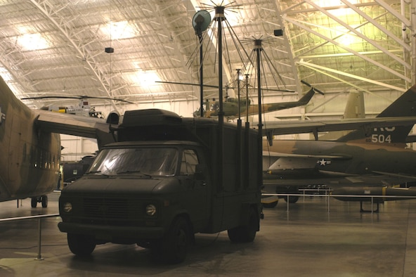 """DAYTON, Ohio -- AN/MSR-1 (""""Misery"""") Communications Intercept Van on display in the Southeast Asia War Gallery at the National Museum of the United States Air Force. (U.S. Air Force photo)"""