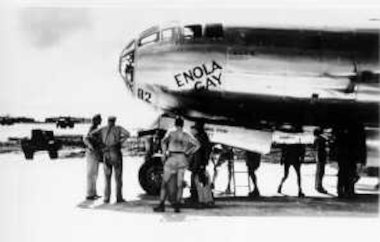 """More training and practice flights were flown from the island over the next few months, then on 6 August 1945 a B-29 Superfortress from the 509th Composite Group, the """"Enola Gay,"""" piloted by Group Commander Tibbets, dropped the first atomic bomb on Hiroshima, Japan."""