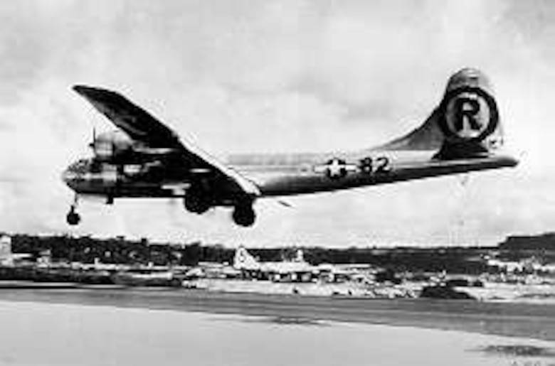 """On 17 December 1944 the Army Air Forces established the 509th Composite Group at Wendover Field, Utah, and it immediately began training in fifteen specially-modified Boeing B-29 Superfortress bombers for """"special weapons"""" delivery."""
