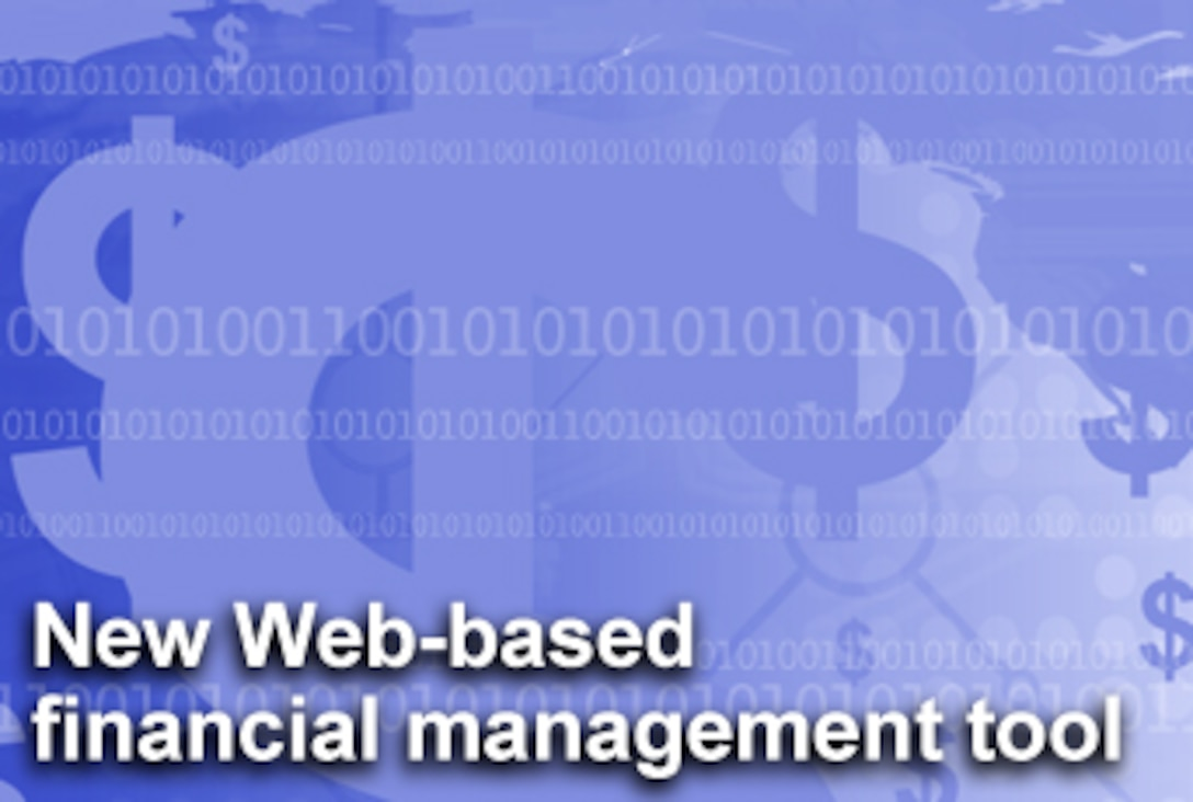 Air Force officials are rolling out a Web-based financial management tool this summer designed to help commanders and other Air Force decision makers. (U.S. Air Force graphic/Mike Carabajal)