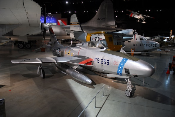 DAYTON, Ohio -- Republic RF-84K in the Cold War Gallery at the National Museum of the United States Air Force. (U.S. Air Force photo)