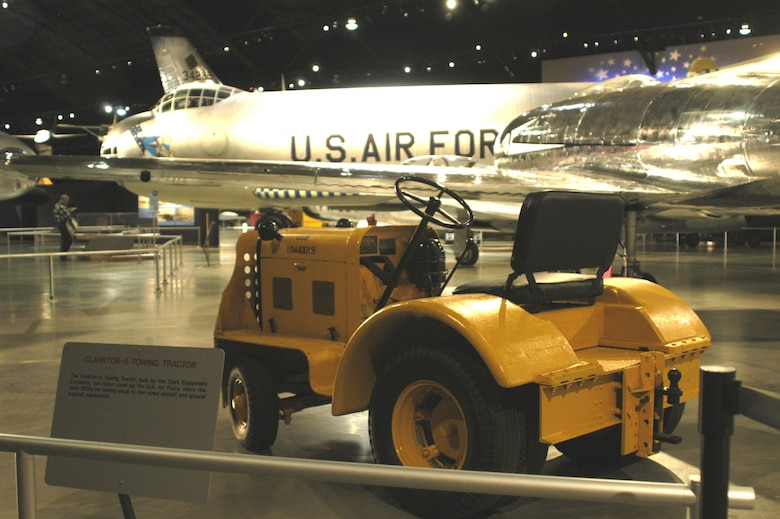 DAYTON, Ohio -- Clarktor-6 Towing Tractor on display in the Cold War Gallery at the National Museum of the United States Air Force. (U.S. Air Force photo)