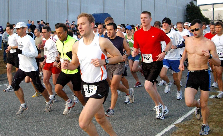 A total of 684 runners competed in the Museum of Aviation's annual marathon and other running competitions at Robins Air Force Base.  It was the largest turnout in the event's 10-year history. (U.S. Air Force photo by Raymond Crayton)