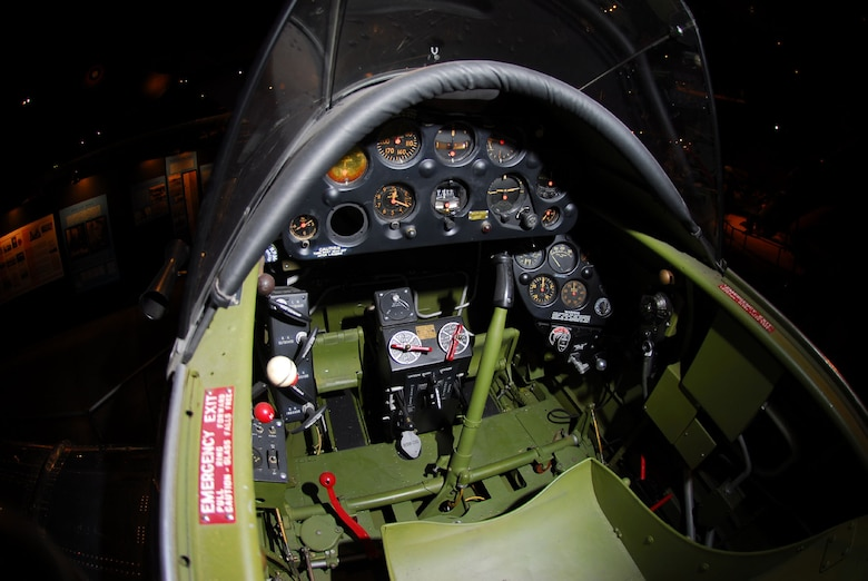 DAYTON, Ohio -- Northrop A-17A cockpit at the National Museum of the United States Air Force. (U.S. Air Force photo)