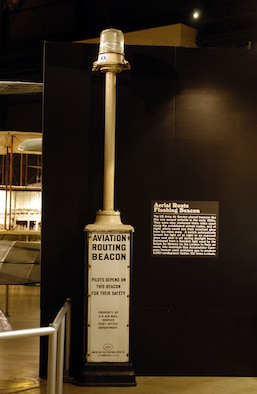 DAYTON, Ohio -- Aerial Route Flashing Beacon on display in the Early Years Gallery at the National Museum of the United States Air Force. (U.S. Air Force photo)