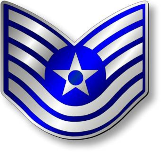 Technical Sergeant, TSgt Stripes (Metallic).  Insignia provided by ITC(SW) MIke Purcell.