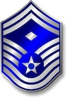Senior Master Sergeant, SMSgt Stripes (Metallic).  Diamond denotes First Sergeant status.  Insignia provided by ITC(SW) MIke Purcell.