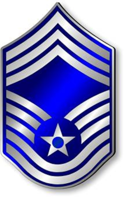 Chief Master Sergeant, CMSgt Stripes (Metallic).  Insignia provided by ITC(SW) MIke Purcell.