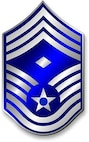 Chief Master Sergeant, CMSgt Stripes (Metallic).  Diamond denotes First Sergeant status.  Insignia provided by ITC(SW) MIke Purcell.