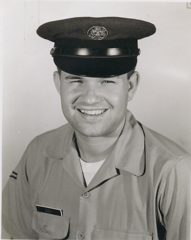 David Odem in his early days as an Air Force Airman.