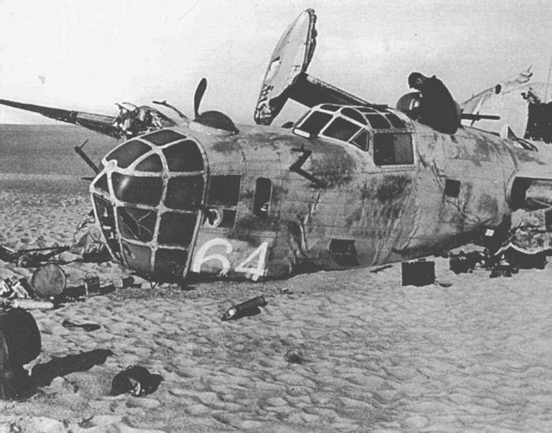 The Lady Be Good, while on its first mission, went missing in 1943 and was not found for more than 15 years. (U.S. Air Force photo)
