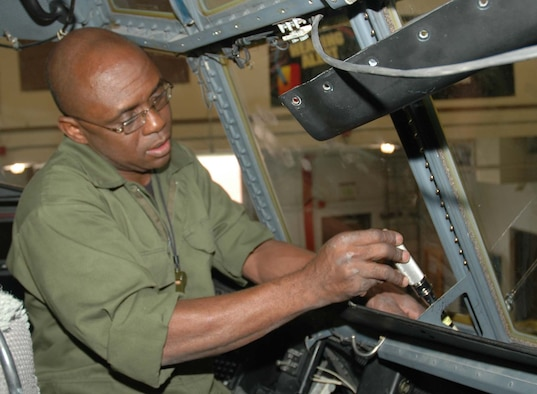 PETERSON AIR FORCE BASE, Colo. (AFRC) - Senior Airman Abdulganeau Abdulai, 302nd Maintenance Squadron aerospace maintenance technician, is the 302nd Airlift Wing Airman of the Year for 2006. (U.S. Air Force photo)