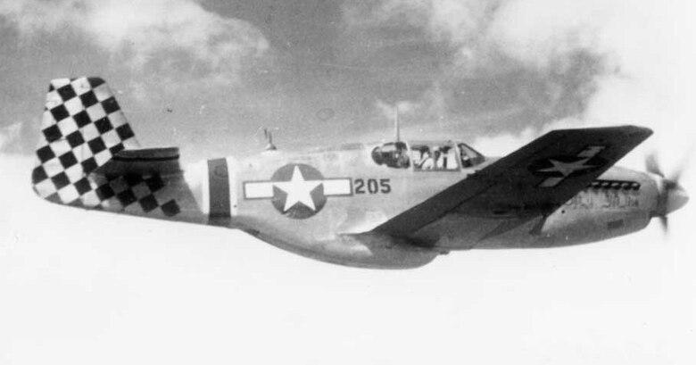 P-51 aircraft in flight.