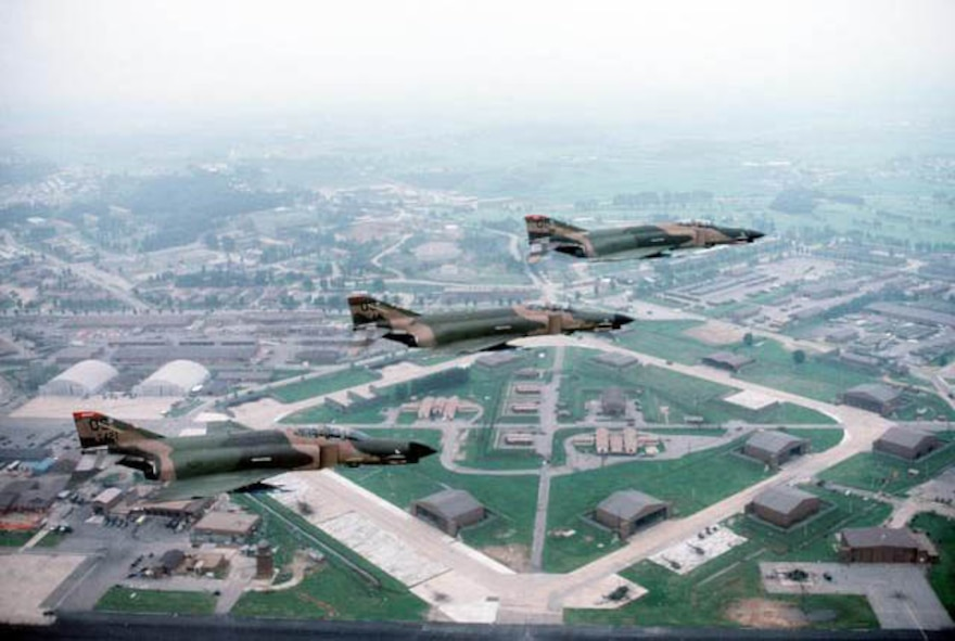 F-4s over Osan AB in 1984.