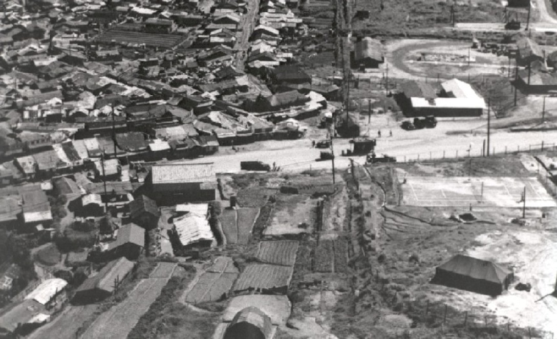 Aerial view of Osan in 1957.