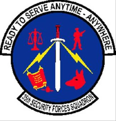 35FW 35th Security Forces Squadron patch
