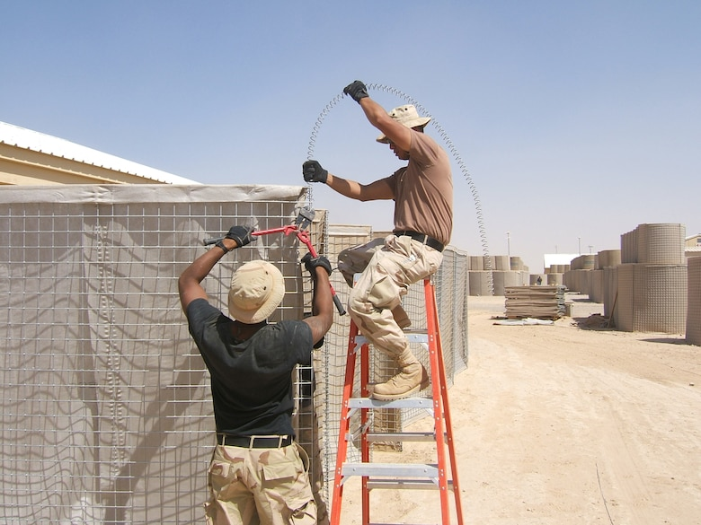 While on deployment, civil engineers helped build infrastructure as well as provide humanitarian relief supplies and support to convoy operations.