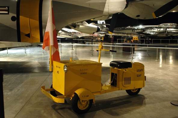 DAYTON, Ohio -- Cushman Model 39 Delivery Scooter on display in the Cold War Gallery at the National Museum of the United States Air Force. (U.S. Air Force photo)