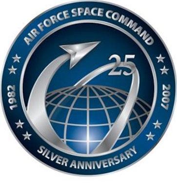 Air Force Space Command 25th Anniversary Logo