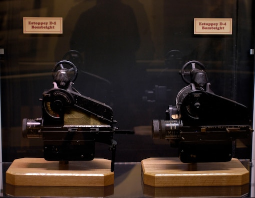 DAYTON, Ohio - Estoppey D-1 and D-4 Bombsights located in the Interwar Bombsight exhibit in the Early Years Gallery at the National Museum of the U.S. Air Force. (U.S. Air Force photo)