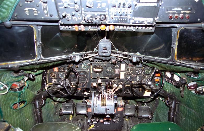 DAYTON, Ohio -- Douglas C-47D cockpit at the National Museum of the United States Air Force. (U.S. Air Force photo)