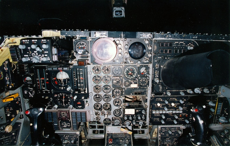 DAYTON, Ohio -- General Dynamics F-111A cockpit at the National Museum of the United States Air Force. (U.S. Air Force photo)