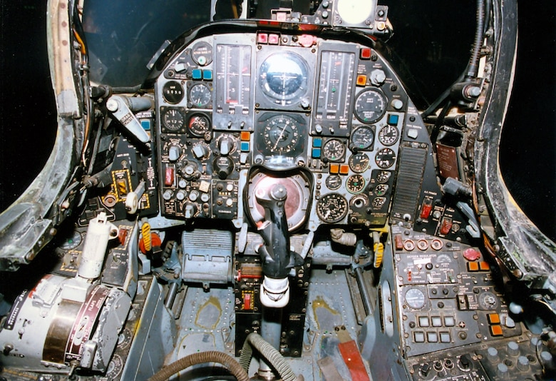 DAYTON, Ohio -- Republic F-105G cockpit at the National Museum of the United States Air Force. (U.S. Air Force photo)