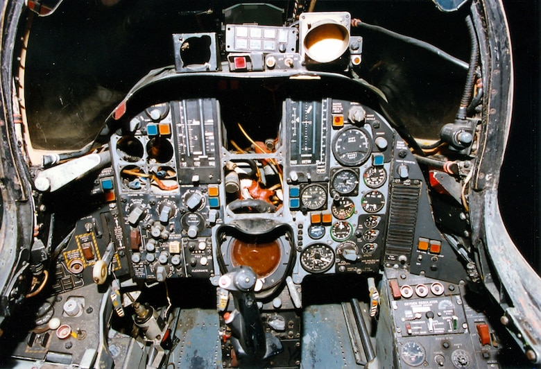 DAYTON, Ohio -- Republic F-105D cockpit at the National Museum of the United States Air Force. (U.S. Air Force photo)