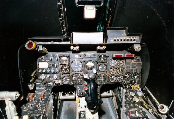 DAYTON, Ohio -- North American Rockwell OV-10A cockpit at the National Museum of the United States Air Force. (U.S. Air Force photo)