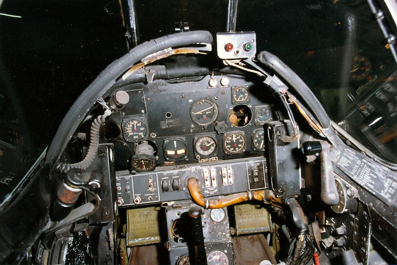 DAYTON, Ohio -- North American F-82B right cockpit at the National Museum of the United States Air Force. (U.S. Air Force photo)