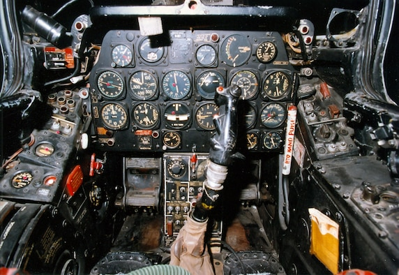 DAYTON, Ohio -- North American F-86A cockpit at the National Museum of the United States Air Force. (U.S. Air Force photo)