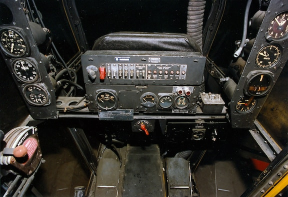 DAYTON, Ohio -- Consolidated OA-10 cockpit at the National Museum of the United States Air Force. (U.S. Air Force photo)