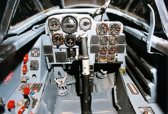 DAYTON, Ohio -- Messerschmitt Me 262A cockpit at the National Museum of the United States Air Force. (U.S. Air Force photo)