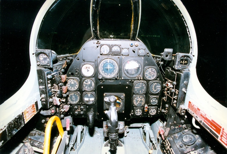 DAYTON, Ohio -- North American F-86D cockpit at the National Museum of the United States Air Force. (U.S. Air Force photo)