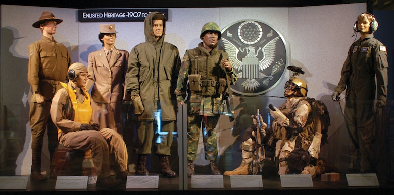 DAYTON, Ohio - Enlisted Heritage exhibit at the National Museum of the U.S. Air Force. (U.S. Air Force photo)
