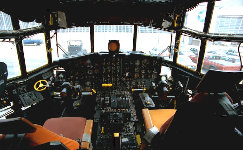 DAYTON, Ohio -- Lockheed AC-130A cockpit at the National Museum of the United States Air Force. (U.S. Air Force photo)