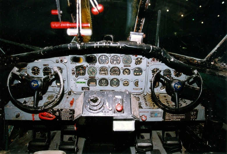 DAYTON, Ohio -- Grumman HU-16B cockpit at the National Museum of the United States Air Force. (U.S. Air Force photo)