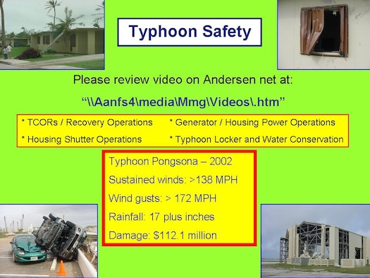 Typhoons should not be taken lightly, and once a storm is identified, precautions should immediately be taken even if the storm is hours or days away.