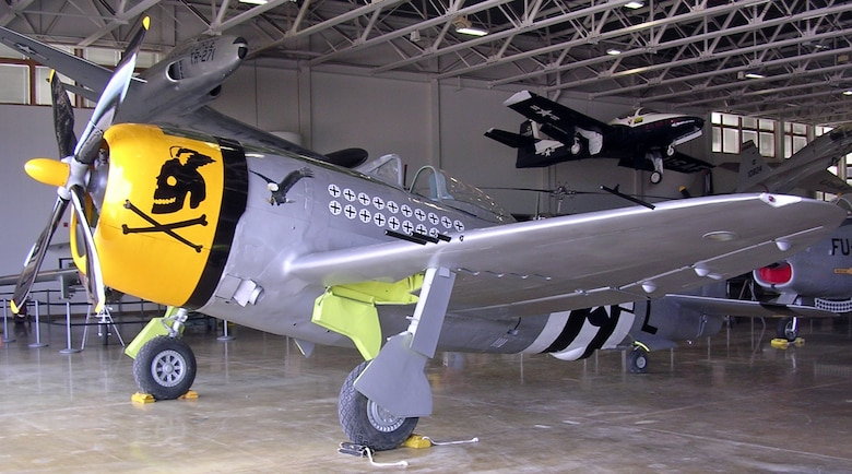 P-47 jet aircraft at the Hill Aerospace Museum