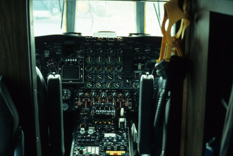 DAYTON, Ohio - Lockheed VC-140B cockpit at the National Museum of the U.S. Air Force. (U.S. Air Force photo)