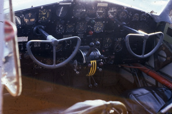 DAYTON, Ohio - Cessna UC-78 cockpit at the National Museum of the U.S. Air Force. (U.S. Air Force photo)